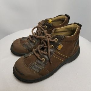 Ecco Toddler Boys Brown Boots Shoes 7.5 (24)